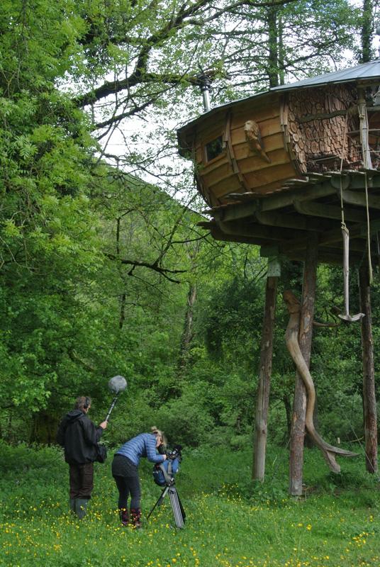 Jardin et cabanes tournage avec france 3 besan on - Cabane jardin construire besancon ...