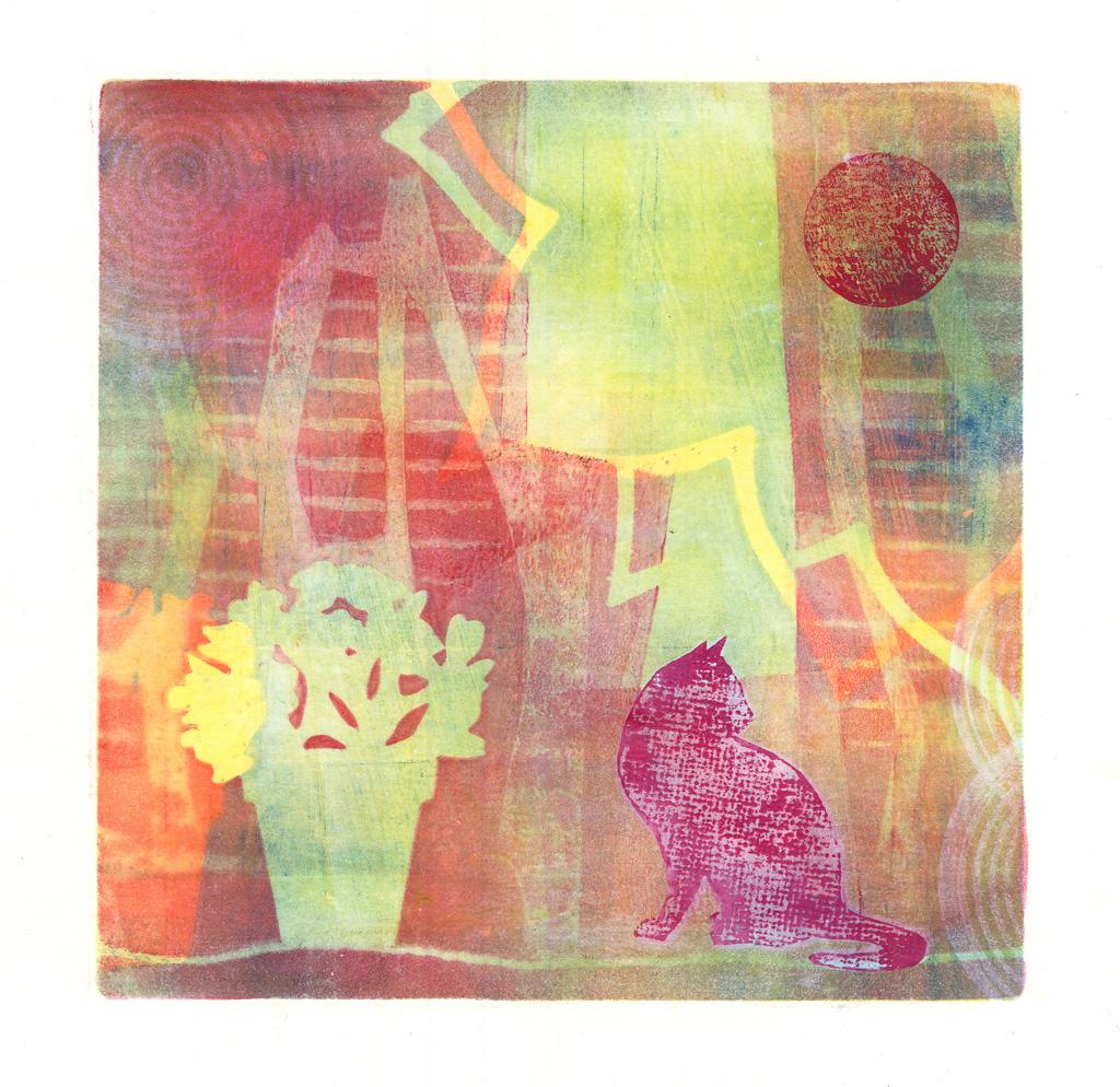 26-the cat and the geranium-bl